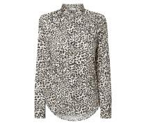 Bluse aus Baumwolle mit Leopardenmuster