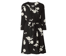 Kleid aus Viskose mit Rosen-Print