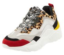 Chunky Sneaker mit Lederbesatz und Animal-Print Modell 'Antonia'