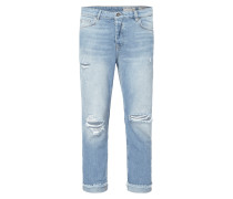 Tapered Fit Jeans im Destroyed Look