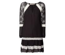 Two-Tone-Kleid aus Chiffon mit Spitze