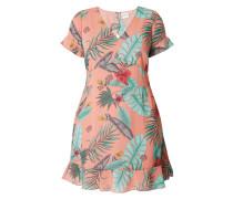 PLUS SIZE - Kleid aus Chiffon mit Blumenmuster