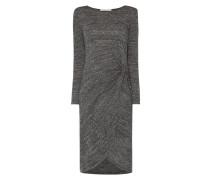 Kleid in Melangeoptik mit Knotendetail