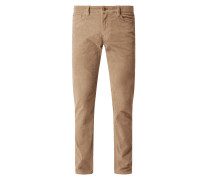 Cordhose mit Stretch-Anteil in gerader Passform