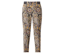 Easy Pants mit Paisley-Muster