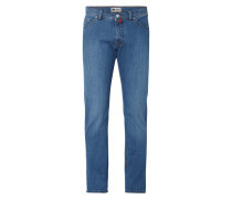Light Stone Washed Regular Fit Jeans