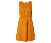 Kleid mit Einsatz aus Häkelspitze
