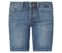 Stone Washed Jeansshorts