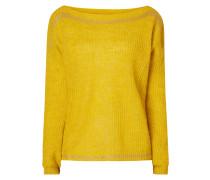 Pullover mit Streifen aus Effektgarn