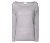 Pullover aus Leinen-Seide-Mix