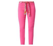 Cropped Slim Fit Hose mit Stretch-Anteil Modell 'Alica'