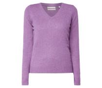 Pullover aus Wolle mit V-Ausschnitt