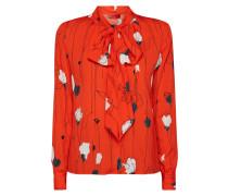 Blusenshirt mit Schluppe und floralem Muster