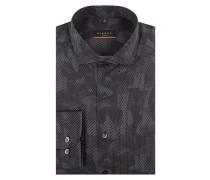 Slim Fit Hemd mit Camouflage-Muster