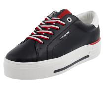 Plateau-Sneaker mit Logo-Applikationen