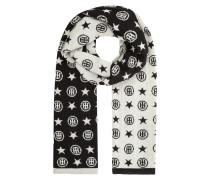 Wende-Schal mit eingestricktem Logo
