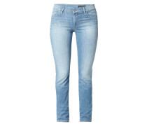 Bleached Slim Fit 5-Pocket-Jeans
