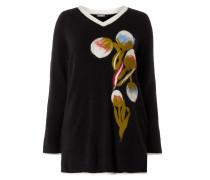 PLUS SIZE - Pullover mit Blumen-Applikation