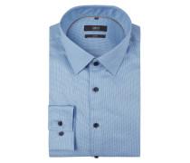 Slim Fit Business-Hemd mit New Kent Kragen und extralangem Arm
