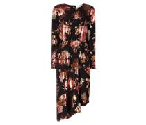 Kleid mit floralen Prints in schimmernder Optik