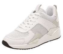 Sneaker Wedges aus Leder und Mesh Modell 'Typical'