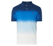 Custom Slim Fit Poloshirt mit Farbverlauf