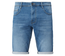 Stone Washed Regular Slim Fit Jeansshorts
