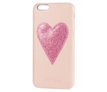 iPhone Case mit Herz-Applikation