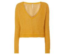Cropped Pullover in Boucléoptik