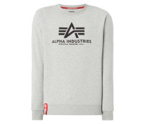 'BASIC SWEATER' mit Logo-Print