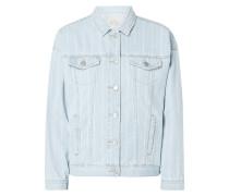Jeansjacke mit Streifenmuster
