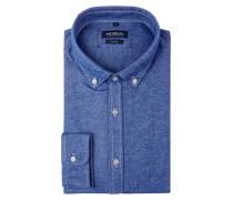Tailored Fit Flanellhemd mit Button-Down-Kragen