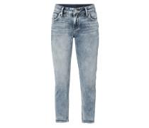 Slim Fit Jeans mit verkürztem Bein