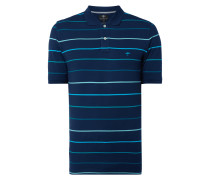 Casual Fit Poloshirt mit Streifenmuster