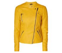 Biker-Jacke in Lederoptik