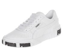 Sneaker aus Leder mit Perforierungen
