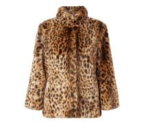 Jacke aus Webpelz mit Leopardenmuster