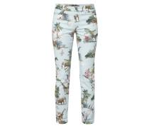 Comfort Straight Fit Jeans mit Dschungel-Print