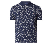 Custom Slim Fit Poloshirt mit Allover-Muster