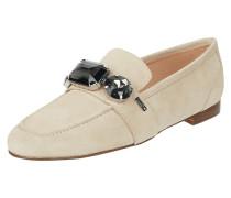 Loafer aus Veloursleder mit Ziersteinen