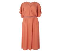 PLUS SIZE Kleid mit Volantärmeln Modell 'Brino'