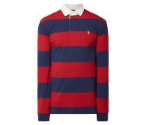Rugby-Shirt mit Blockstreifen
