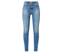 Skinny Fit Jeans mit Stretch-Anteil Modell 'Nora'
