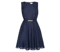 Kleid mit gepunktetem Jacquardmuster