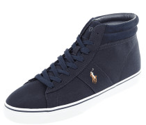 High Top Sneaker aus Textil mit Logo-Stickerei