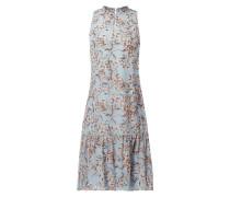Kleid in schimmernder Optik mit floralem Muster