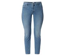 Straight Fit Jeans mit Galonstreifen