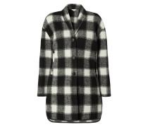 Mantel mit Schalkragen und Karomuster