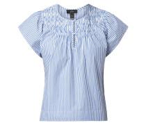 Blusenshirt aus Baumwolle mit Streifenmuster