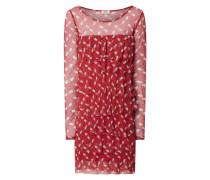 Kleid aus Mesh im Stufen-Look